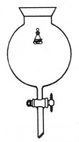 Flask, Spherical Reaction - Capacity 5000ml, PTFE Stopcock 8mm
