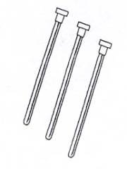 NMR Sample Tubes - Length 8 inch, Usage 200MHz, Cap Color Red